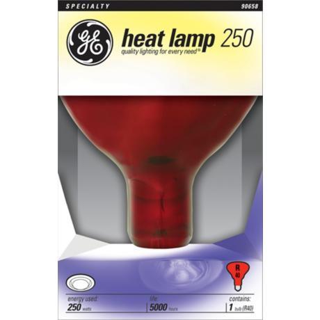 Red Heat Lamp 250W